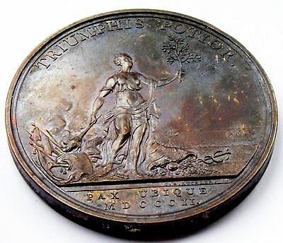 RARE England -  George III 1802 The Peace of Amiens Bronze Medal by C H Küchler