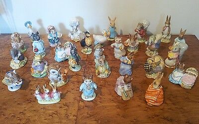 Collection Of 30 Beswick Bp3 Backstamp Beatrix Potter Figures All Mint