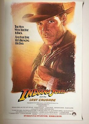 Indiana Jones and the Last Crusade Advance 1 sheet S/S movie poster