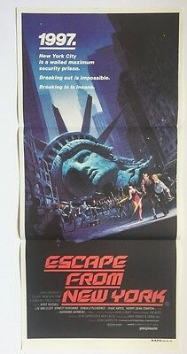 Escape from New York Australian Daybill poster - John Carpenter