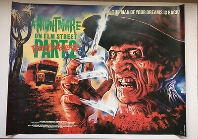 A Nightmare on Elm Street 2 - Freddy's Revenge - original UK quad poster