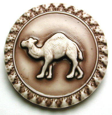 Handcrafted Art Stone Button Camel FREE US SHIPPING