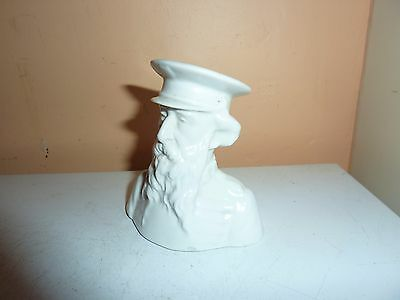 Edwardian White China 8.7 Cm Bust Model Of General Booth ,founder Salvation Army