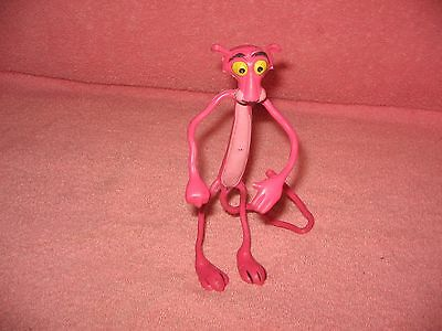 """Vintage Famous Pink Panther Wired Rubber Bendable Cartoon Character/figure-6.5"""""""