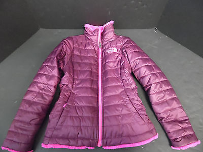 North Face Kids Coat Reversable Pink Down Fill Size 7/8 Small Jacket