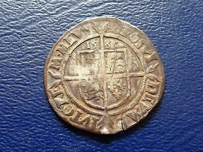 Elizabeth 1St Hammered Silver Sixpence 1569 Mm Coronet Great Britain Uk