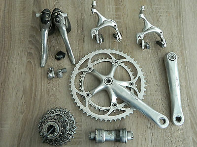 Vintage Shimano Ultegra 6500 mini groupset 9 speed Sti road 172.5 52-39 13-25