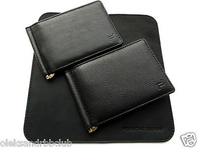 Genuine Leather Money Clip in the style of Porsche Design (exclusive hand made)
