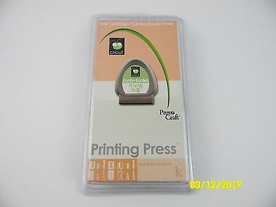 Provo Craft Cricut PRINTING PRESS Alphabet Numbers Shapes Cartridge 29-0226