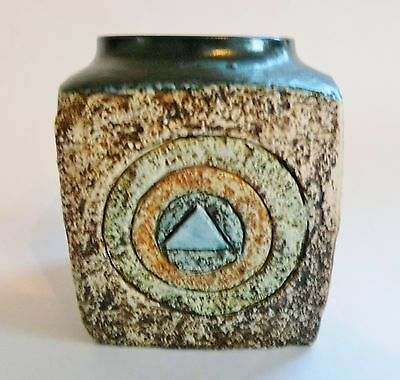 A Troika Pottery vase or sculpture, signed  free postage