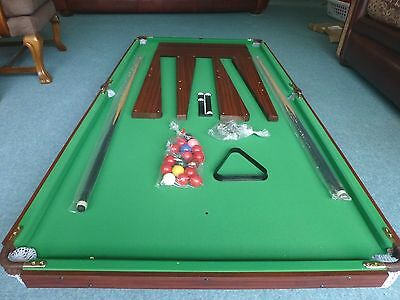 Pot Black SNOOKER, billiards or pool table 6ftx3ft NEW !