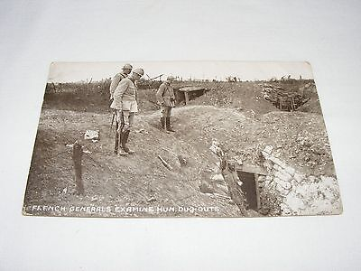 Vintage  Antique  Postcard Wwi French Military General Photo Postcards