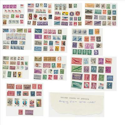Joblot Old Stamps UNITED STATES OF AMERICA USA 1870-1985 Approx 217 Stamps AP017