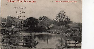 Vintage Postcard Turners Hill Withypits Pond Dam Crawley Lingfield H Lowman