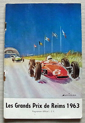 FRENCH GRAND PRIX FORMULA ONE F1 June 1963 Reims Official Race Programme