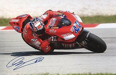 MOTO GP Casey Stoner Original Hand Signed Photo 12x8 With COA