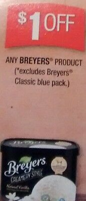 $1 OFF x 12 any Breyers Ice Cream