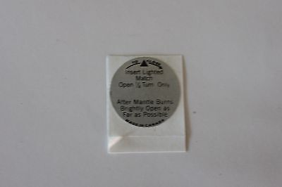 Coleman Canada Model 335 Replacement Lantern Valve Wheel Decal *liquidation*