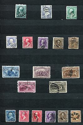Usa United States Of America 1883 – 1894 ***** 19 Used Stamps
