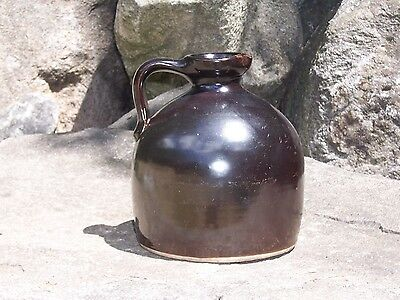 Antique Stoneware Beehive Brown Jug Moonshine Whiskey Country Primitive