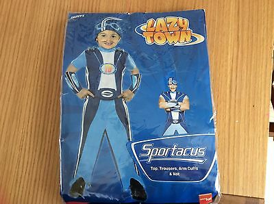 Lazytown Lazy town Sportacus Costume Dress up Role play 3-4 3 4 years Yrs