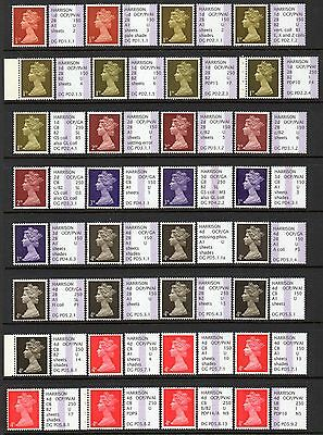 Gb Specialised Extended Set Of 59 Pre-Decimal Machins, Mnh