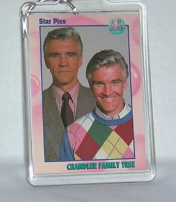 All My Children AMC David CANARY ADAM  Stuart CHANDLER KEYCHAIN NEW