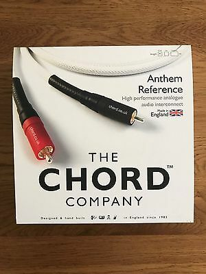 Pair Of 0.5M Chord Anthem Reference Audio Interconnects - Mint Boxed