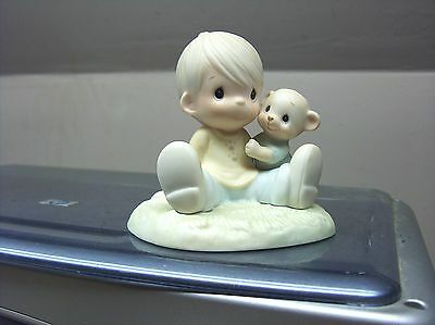 Nice Precious Moments 1985 Figure To My Favorite Paw 100021 W/olive Branch Sym