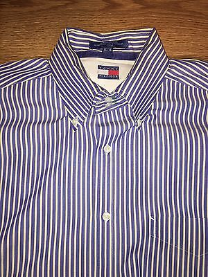 Men's Vintage Tommy Hilfiger Long Sleeve Button Down Shirt Size 16 1/2.  34/35