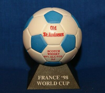France 1998 98 World Cup Soccer Old St Andrews Scotch 5cl Miniature Soccer Ball