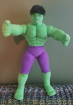 "MARVEL Incredible Hulk 2003 Kellytoy 14"" plush cuddly stuffed toy movie"