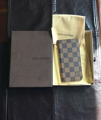 LOUIS VUITTON Damier iPhone 6 Folio Case Cover LV 100% Authentic