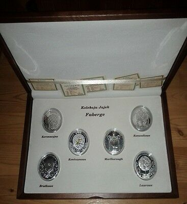 Niue Imperial Faberge Eggs serie Proof silver coins with Case - RARE