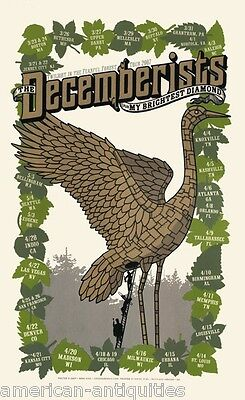 Decemberists mini Poster Crane Wife The King Is Dead Hazards of Love Picaresque