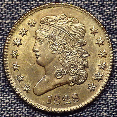 1828 Classic Head Half Cent 13 Stars C-3 Brown MS+++++ Coin - Details Coin