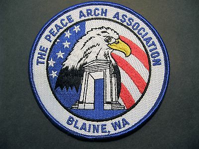 Blaine Washington The Peace Arch Association Embroidered Patch Travel Peace