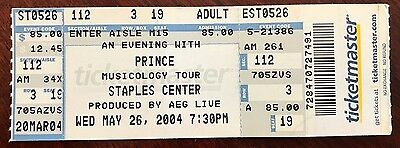 PRINCE Musicology Tour 2004 Full Concert TICKET Purple Rain Little 1999 RARE