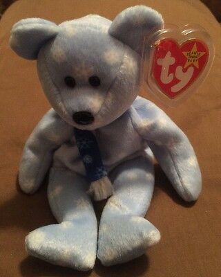 OBO-Original TY 1999 Holiday Teddy Beanie Baby With Errors - Retired and Rare