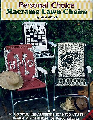 Personal Choice Macrame Pattern Booklet Chair Seats, Lawn, Patio Chairs