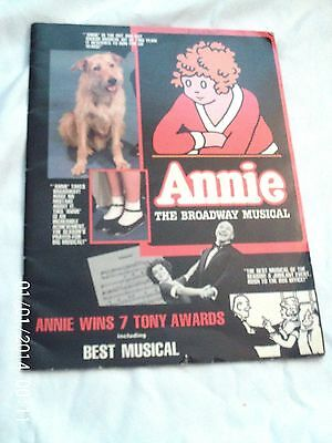 "1983 Souvenir Program For ""annie"""