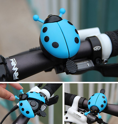 Bicycle Bell Ladybug Beetle Boll Ladybird Alarm Bike Metal Kits Girls Blue