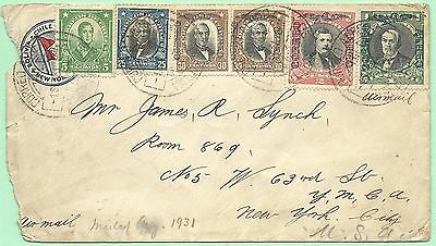 9/1/1931 Chile Grace Lines stationery to J. R. Lynch Room 869 YMCA W 63rd St NY