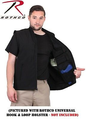 Rothco Concealed Carry Vest Black Soft Shell Military Police Tactical Vest 86500
