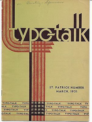 1931 Birmingham Alabama Printing Trade Magazine TYPO TALK, hot type, lot of 6
