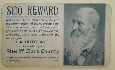 1902 Sheriff Of Clark County, Indiana Picture Campaign Card ~ Democratic Party