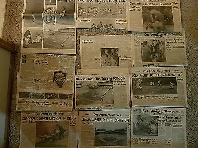 1954 New York Giants World Series Champs Newspapers Lot LA Times Examiner + MAYS