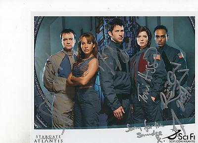2004 SDCC Stargate Atlantis Cast Signed Photo by 4 Joe Flannigan Torri Higginson