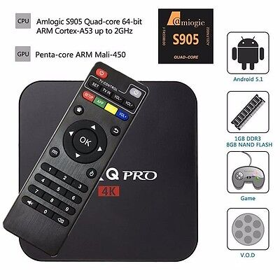 Original MXQ Pro Smart 4K TV BOX Android5.1 Quad Core Media Player 1G+8G Mini PC