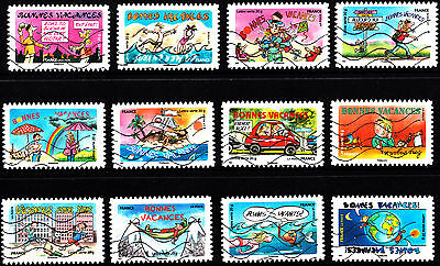France 2015 Happy Holidays Complete Set of Stamps P Used S/A